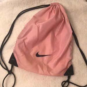 Nike pink drawstring gym bag